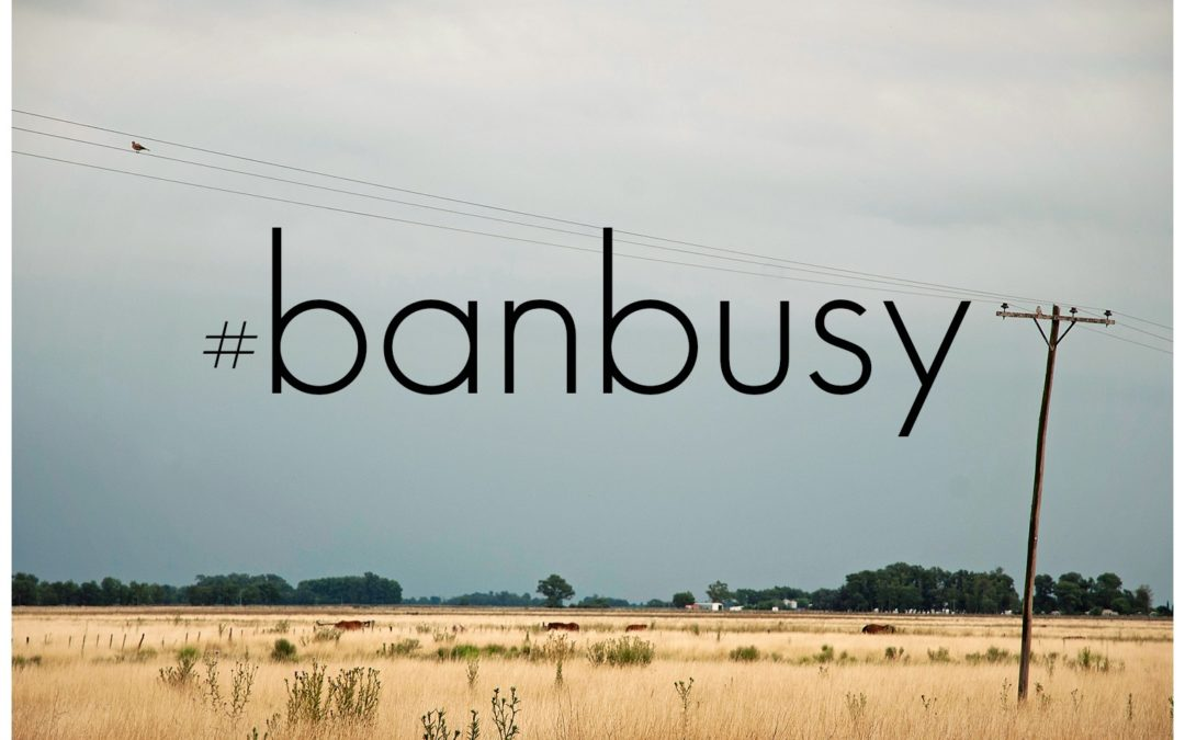 My Word of the Year is #BanBusy