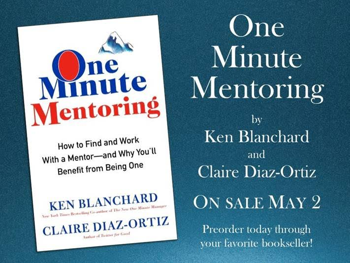 Announcing My New book: One Minute Mentoring!